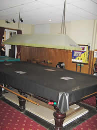 Snooker Table at the Club